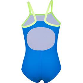 speedo Gala Logo Thinstrap Muscleback Strój kąpielowy Dziewczynki, blue/green